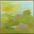 Felrath hines american 1918 1993 landscape 1962 oil on canvas framed signed dated and titled 22 x 22 provenance philip douglas fine art new york label on verso private collection