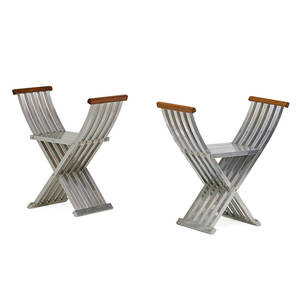 John vesey pair of classic folding benches