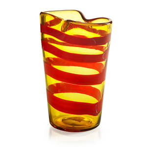 F bianconi venini fasce orizzontali glass vase
