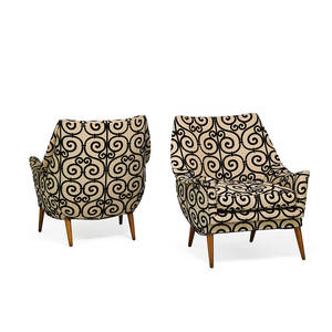 Selig attr pair of lounge chairs