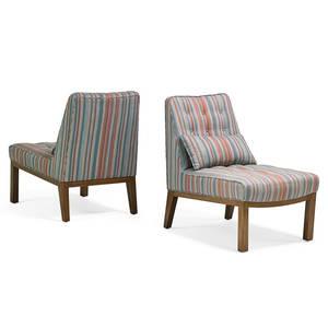Edward wormley dunbar pair of slipper chairs