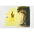 Eric fischl american b 1948 untitled 1989 aquatint in colors signed dated and numbered ap 815 35 12 x 54 sheet provenance private collection florida