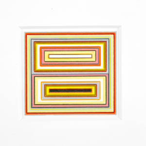 Warren isensee american b 1956 untitled 2005 colored pencil on paper framed signed and dated 6 34 x 7 sheet provenance danese gallery new york label on verso private collect