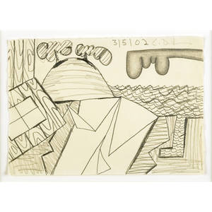 Carroll dunham american b 1949 untitled 3502 2002 graphite on paper framed initialed and dated 5 x 7 sheet provenance private collection new york