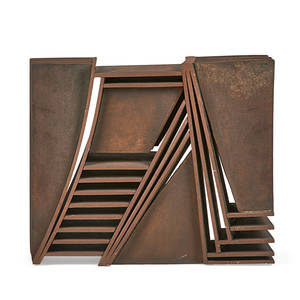 Tom waldron american b 1953 untitled steel sculpture 14 12 x 17 18 x 18 14 provenance private collection florida