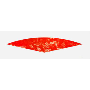 Ellsworth kelly american 1923 red curve state 1 1988 lithograph in colors mounted on fabriccanvas framed signed and numbered 1515 26 x 84 sheet publisher gemini gel los angeles