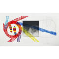 James rosenquist american b 1933 gravity feed 1978 etching aquatint pochoir and tire print signed dated titled and numbered 5578 17 12 x 35 12 plate 22 58 x 39 34 sheet pro
