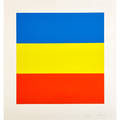 Ellsworth kelly american b 1923 untitled blueyellowred 197073 screenprint in colors framed signed and numbered 53100 23 58 x 22 14 sight literature axsom 91 provenance priva