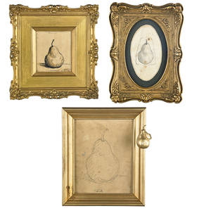 Robert moore kulicke american 19242007 three works three works of art untitled pencil on illustration board framed signed 10 x 8 untitled 1968 ink on paper framed signed and dated