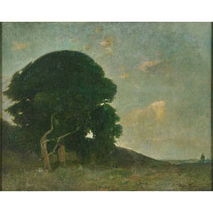 Emil carlsen american 18531932 summer evening 1904 oil on canvas framed signed 16 x 20 provenance private collection florida