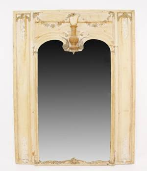 Large Italian Mirror with Painted Accents