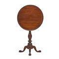 Philadelphia chippendale tilttop candlestand mahogany with birdcage tilttop on turned pedestal base 18th c 28 14 x 21 14