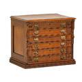 Spool cabinet walnut with six drawers 19th20th c 21 x 25 x 18