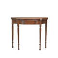 American sheraton card table mahogany serpentine front with turned columnar leg ca 1810 30 x 36 x 17 12 closed