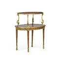 Louis xvi style side table giltbronze mounted tulipwood with two tiers 35 x 32 12 x 22 14