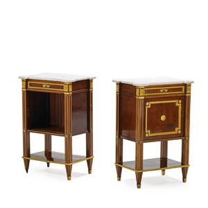 Pair of louis xiv style side tables giltbronze mounted rosewood 31 x 20 x 14