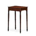 Regency side table mahogany with one drawer raised on ring turned legs ca 1815 27 14 x 18 x 14