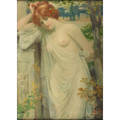 Robert fowler british 18531926 two oil on canvas paintings of women in deshabille framed signed 22 x 16