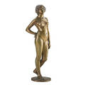 Eugene wagner german 1871  1942 bronze art deco figure of a standing nude signed 16 provenance estate of a private collector new york