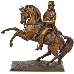 Vitalgabriel dubray french 18131892 bronze sculpture napoleon on horseback signed 25