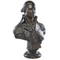 William rudolph odonovan american 18441920 bronze sculpture of george washington stamped from the statue of washington at newburgh 1887 by william rudolf odonovan marked mj power founder