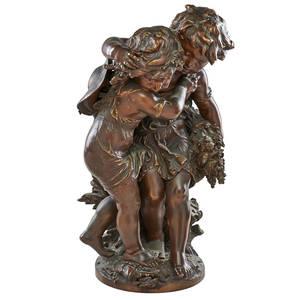 After louis auguste moreau french 18551919 bronze sculpture allegory of summer 23 h