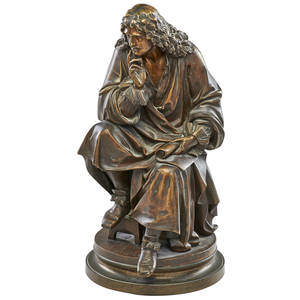 Albert ernest carrierbelleuse french18241887 bronze sculpture moliere signed 24