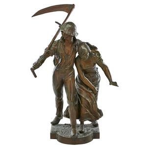 Alfred boucher french 18501934 bronze sculpture les faucheurs the reapers signed 30