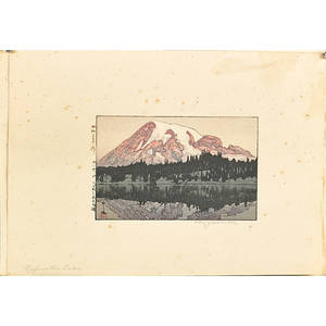 Hiroshi yoshida japanese 18761950 two woodblock prints new york and reflection lake 1928 signed and titled 10 x 7 sheet provenance private collection connecticut acquired from the