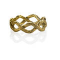 Buccellati italy 18k gold infinity ring textured entwined cords marked buccellati italy 18k size 5 12 23 dwt