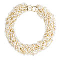 River pearl torsade necklace twelve strands of irregular river pearls 96  45 mm joined by 14k yg hook and eye closure unmarked 16 34