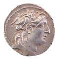 Ancient greek selukid kingdom ar tetradrachm coin