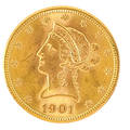 Us 1901 liberty head gold 1000 coin