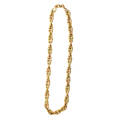 14k bicolor fancy link necklace joined twisted oval links yellow and pink gold ca 1945 marked 14k 17 x 14 465 dwt