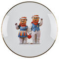 Jeff koons american b 1955 bernardaud screenprint on porcelain winter bears from banality series limoges france 2013 signed in plate by artist from an edition of 4500 10 58 dia