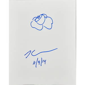 Jeff koons american b 1955 colored marker on coated panel 2014 signed and dated 11914 14 x 11