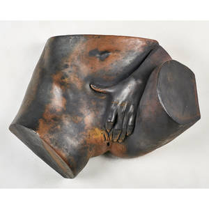 bronze erotic sculpture 1969 signed and dated 9 12 x 19 x 13 12