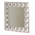 Modern bubble mirror usa 1970s convex plexiglass mirrored glass aluminum trim turner label 36 x 36 x 4