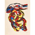 Karel appel dutch 19212006 figurative abstract lithograph in colors 1963 signed dated and numbered 3150 30 14 x 22 38 sheet