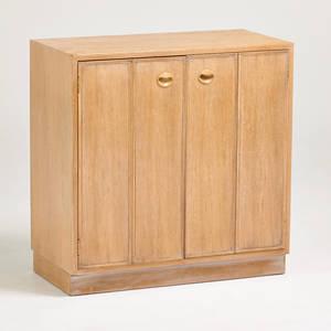 Edward wormley dunbar twodoor cabinet berne id 1950s bleached wood remnants of label 32 12 x 32 x 16
