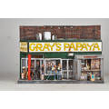 New york city diorama 20th c mixed media of grays papaya illegibly signed 45 x 30 x 12