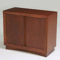 Paul frankl brownsaltman twodoor cabinet usa 1940s stained wood stenciled markings to back 32 x 38 x 17 12