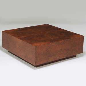 Milo baughman thayer coggin coffee table high point nc 1970s walnut burl unmarked 15 x 40 sq
