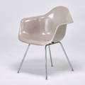 Charles and ray eames herman miller armchair zeeland mi 1960s plasticreinforced fiberglass zincplated steel labeled and dated 31 x 25 x 24