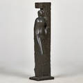 Joachim berthold german 19171990 bronze standing figure signed and numbered 19 27 12 tall