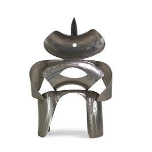 Gloria kisch stainless steel sculpture steel man new york 1992 signed kisch 9092 provenance bergen museum of art and science 65 x 45 12 x 25