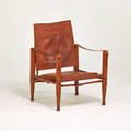 Kaare klint rud rasmussens snedkerier safari lounge chair denmark 1960s ash leather brass upholstery label 31 x 23 x 25