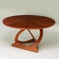 Soren jensen teak occasional table denmark 1960s unmarked 21 x 40 dia