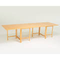 Bruno mathsson maria folding dining table vernamo sweden 2000s beech foil label closed 29 x 35 x 9 12 open 29 x 35 x 110