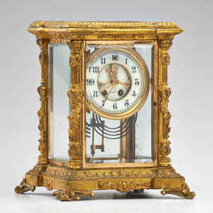 Waterbury clock company gilt bronze mantle clock san francisco early 20th c movement marked sf 10 12 x 7 12 x 6 12